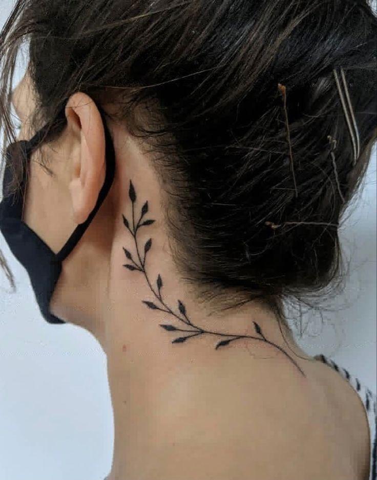 Handpoked by Kelly in 2021   Neck tattoos women, Simple neck tattoos, Girl neck tattoos
