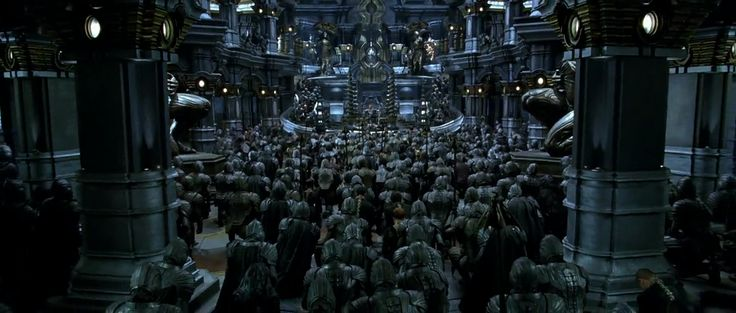Chronicles of Riddick. Gathering in Necromongers' throne hall