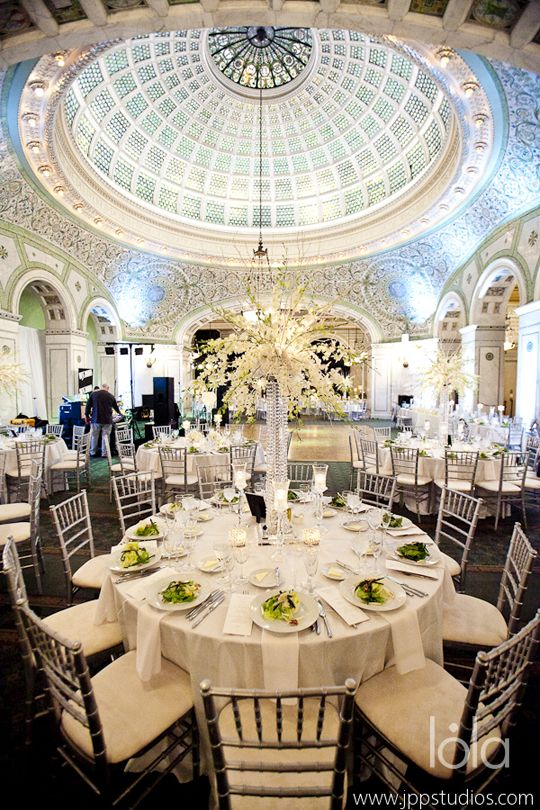 Chicago Cultural Center glam wedding