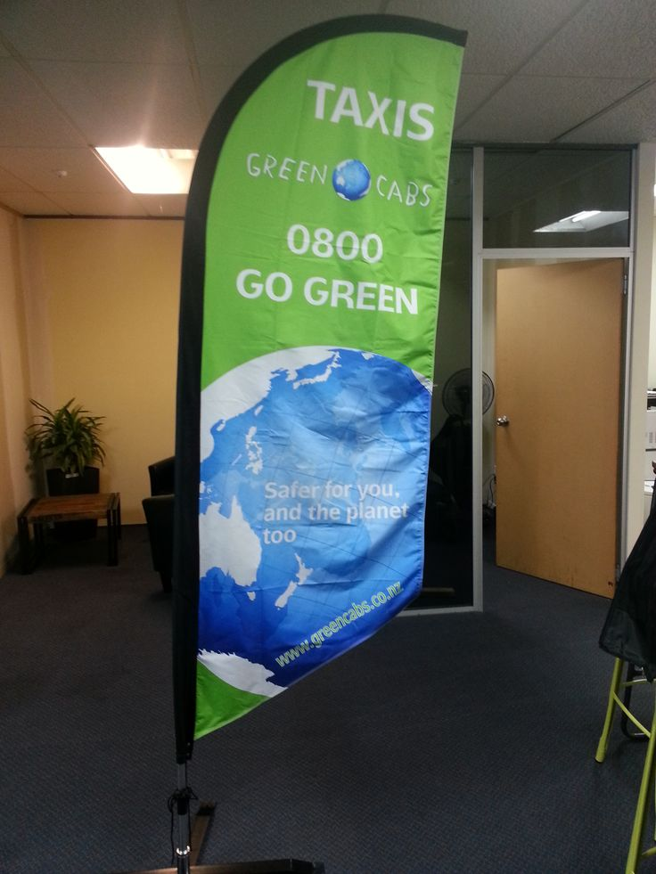 Green Cabs flags, coming to an event near you!