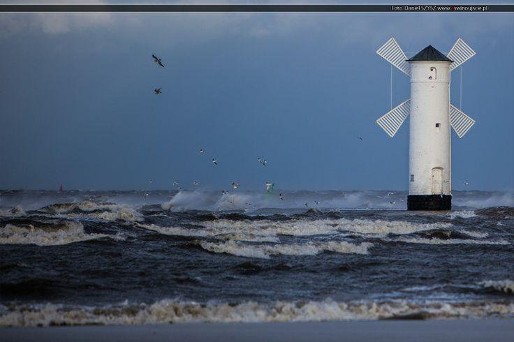 Ksawery w Świnoujściu #ksawery #orkan #eswinoujscie #swinoujscie #wiatrak #plaza www.eswinoujscie.pl
