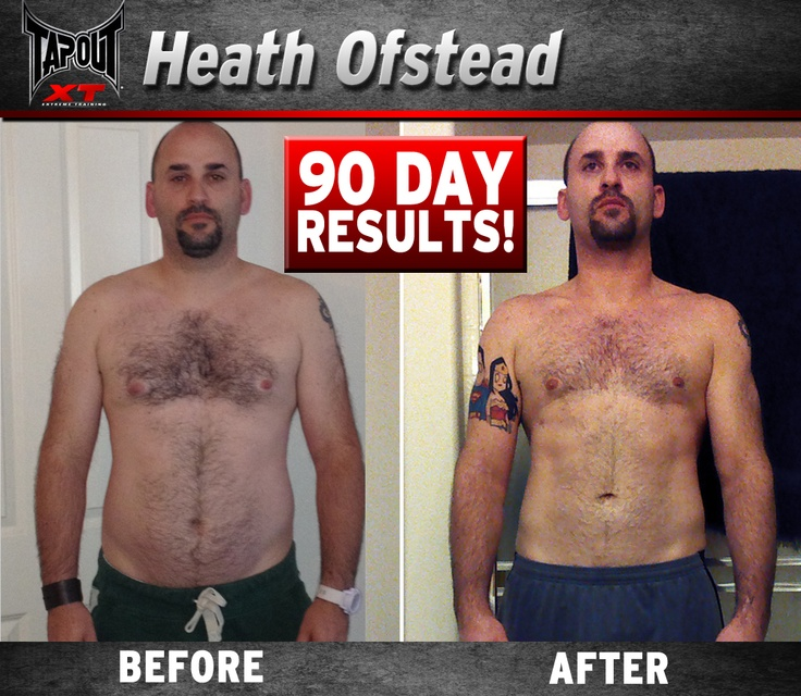 Heath has amazing results with TapouT XT and they were definitely EARNED WITH SWEAT!