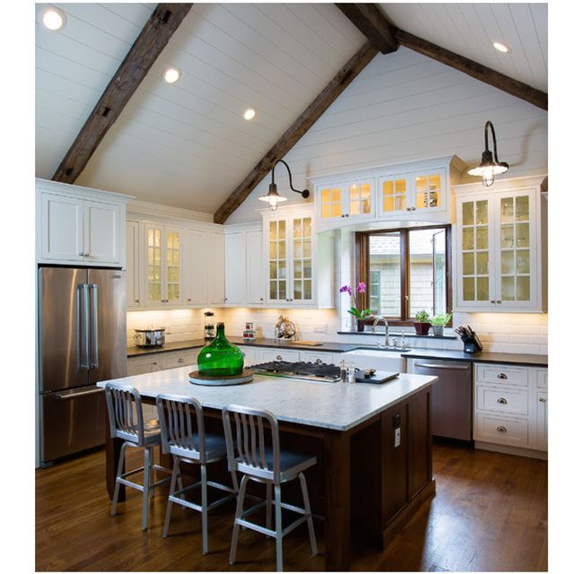 Kitchen Lighting Vaulted Ceiling: 56 Best Ceiling Treatments & Beams Images On Pinterest