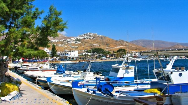 View from the port to Chora