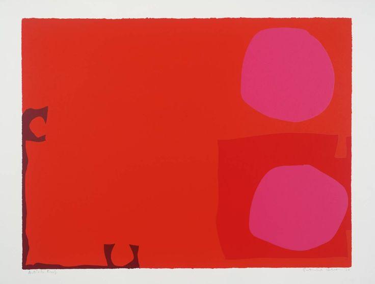Patrick Heron  Two Magenta Discs in Dark Reds, 1970