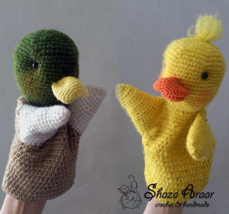 my work --- sonson & dondon crochet  duck  <3