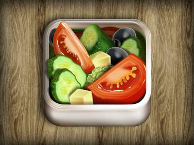 Salad iPhone iOS Icon design