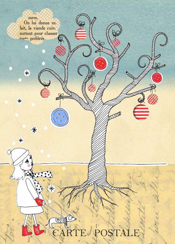 carte de noël carte de voeux carte de bonne par Cestbonpourcquetas