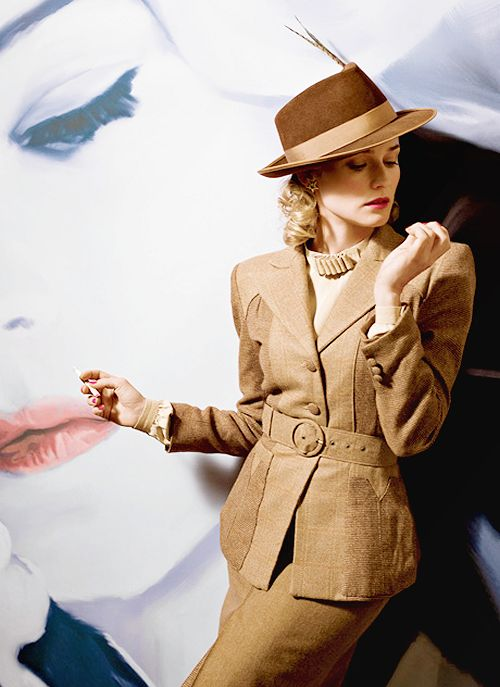 Diane Kruger in classic hat, classic film noir, that is.