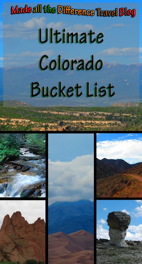 My Ultimate Colorado Bucket List. A complete list of things I want to do while living in Colorado. I want to explore the entire state and have adventures.