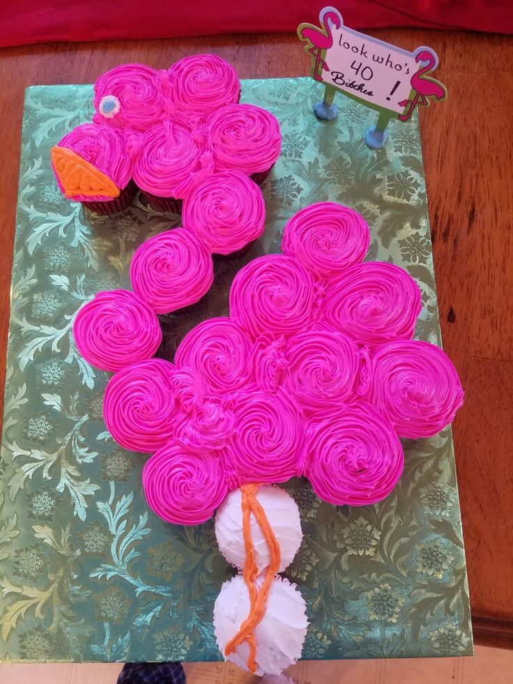 Flamingo Pull Away Cupcakes I Made Florida In 2019