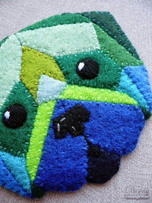 geometric pug pendant by dushky | #blue #green #cold #geometric #dog #pug #pendant #jewelry #dushky