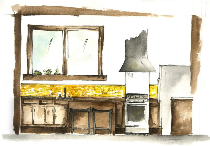 Watercolor rendering by Madison Welch - madisonbwelch.com