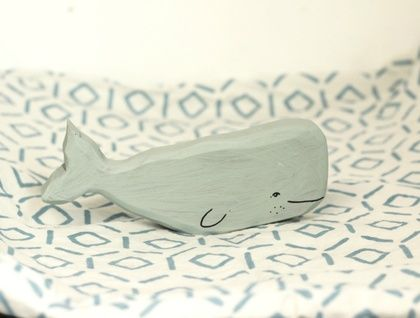 Wooden toy whale