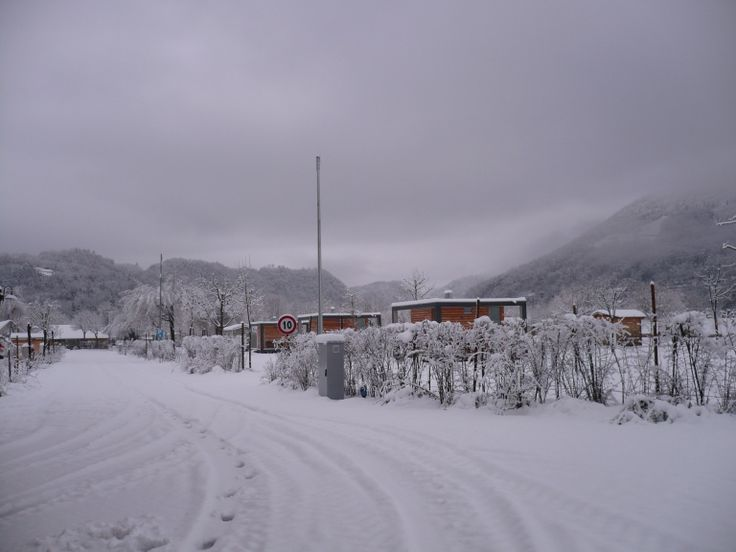 Camping Lago di Levico with snow