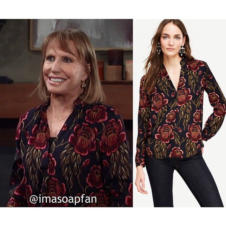 #GH Wardrobe: Get the info on Monica's black and red rose print blouse at imasoapfan.blogspot.com (link in my bio). . http://imasoapfan.blogspot.com/2017/07/monica-quartermaines-black-and-red-rose-garden-print-blouse-general-hospital.html . #GeneralHospital #fashionblogger #soapopera #wardrobe #ontheblog #fashion #imasoapfan  #monicaquartermaine #lesliecharleson