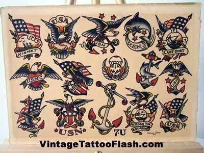 Tattoo Flash American Traditional Art Old School TattooS Vintage