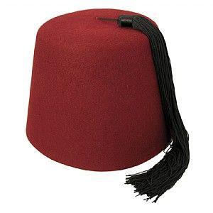 Village Hats Maroon Fez with Black Tassel from Village Hats.