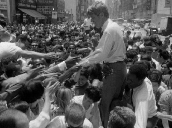 Derniere campagne: Bob Kennedy en campagne électorale en 1968. [RTS]
