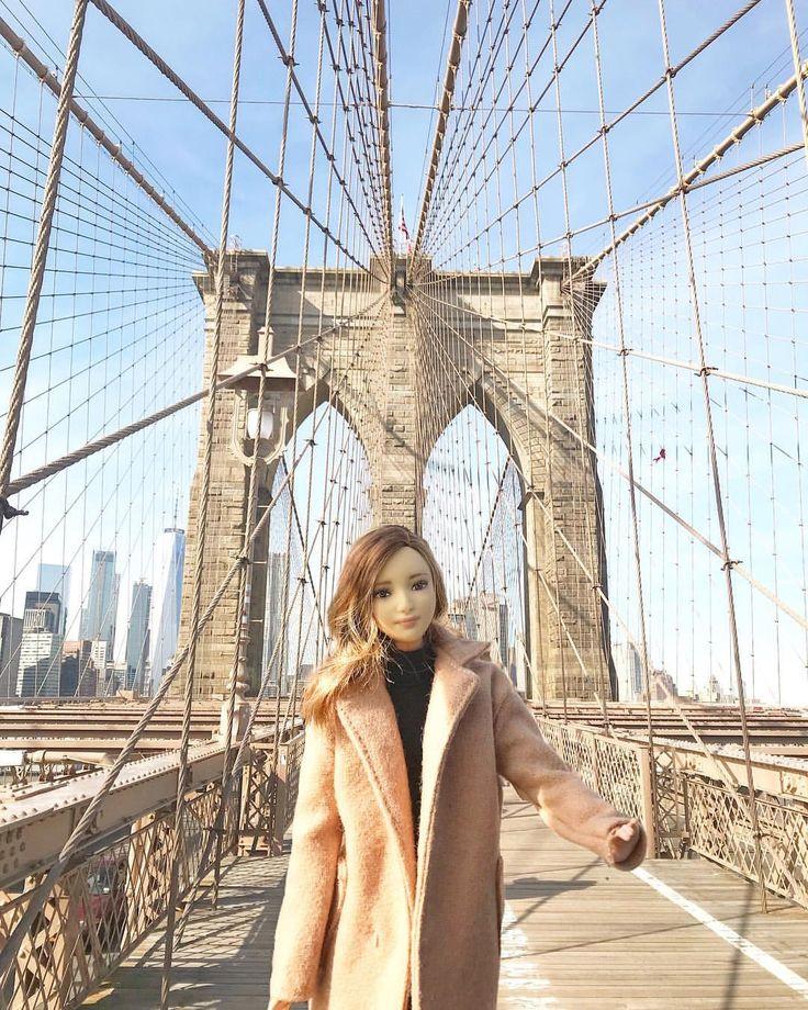 •Brooklyn Bridge•😻l . . . . #fashion #style #love #OOTD#cute #photooftheday #Travel#Traveller#beautiful #BrooklynBridge#instagood #pretty #HairStyle #Hair #girl #Bigapple#instahair#Korean#Instatravel#LifeWellTravelled#BarbieCollector#barbieStyle#Makeup#dollphotogallery#TheBarbieLook#Newyork
