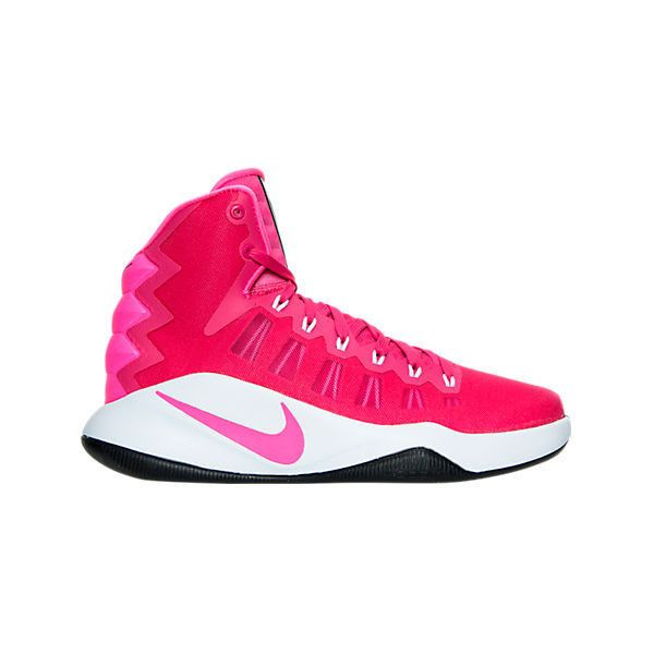 Nike Men's Hyperdunk 2016 Basketball Shoes ($140) ❤ liked on Polyvore featuring men's fashion, men's shoes, men's athletic shoes, pink, mens rubber shoes, mens pink shoes, pink mens basketball shoes, mens low top basketball shoes and mens leopard print shoes