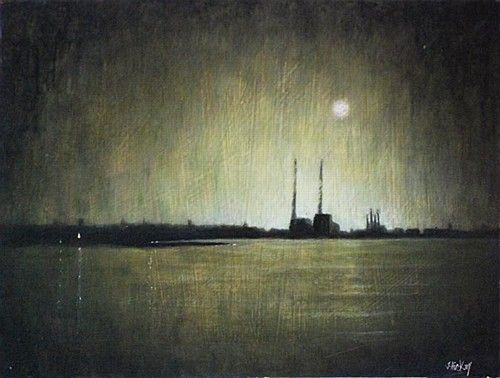 Moonlit Poolbeg - Joby Hickey