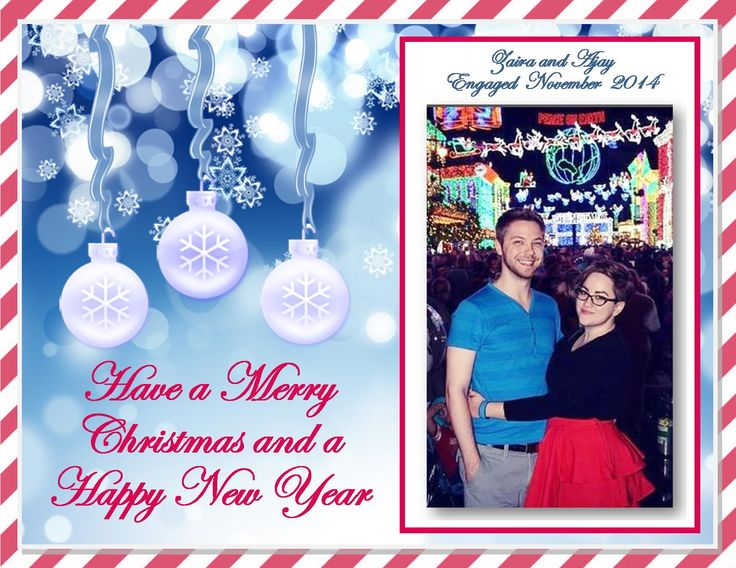 Ajay Fry and Zaira Gaudio engagement Christmas card.