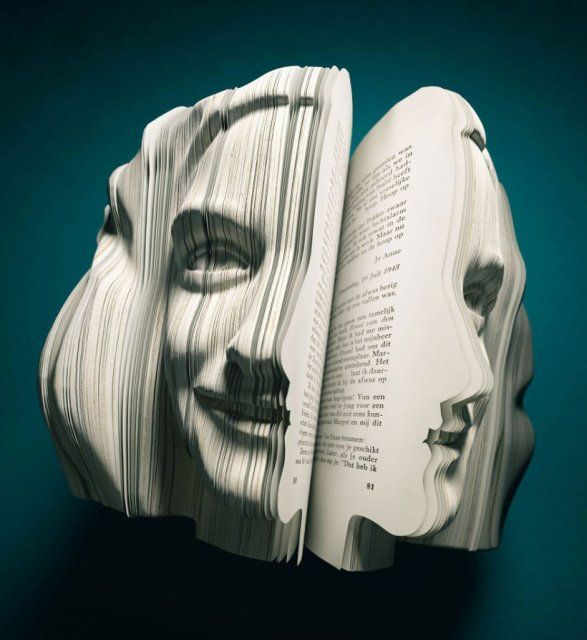 Невероятно красивые скульптуры из книг