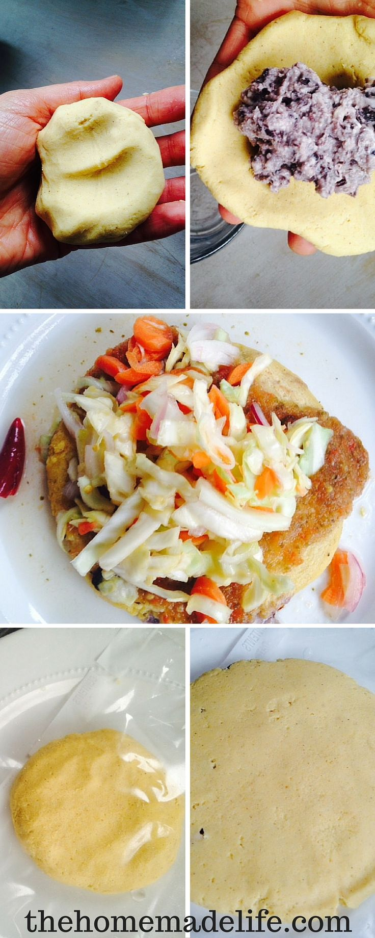 Pupusas are oh so yummy! This is one of my favorite authentic comfort foods. If they are anywhere near me. I will eat them breakfast, lunch, and dinner.    The Pupusa is El Salvadors national dish, very similar to the Mexican gordita, and South American Arepa. Pupusas are traditionally served with curtido. http://www.thehomemadelife.com/papusas-a-salvadorian-delight/