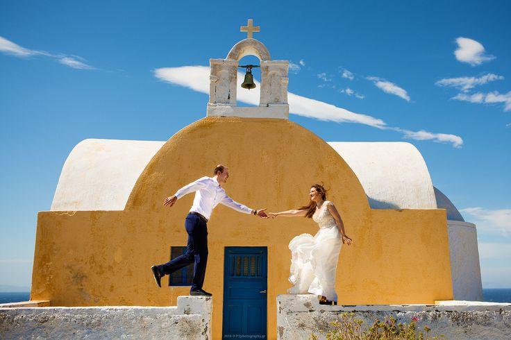 Greek Wedding in Santorini, Greece! Summer in Greece with us! #p2photography #santorini #greek #summer #wedding #couple #inlove