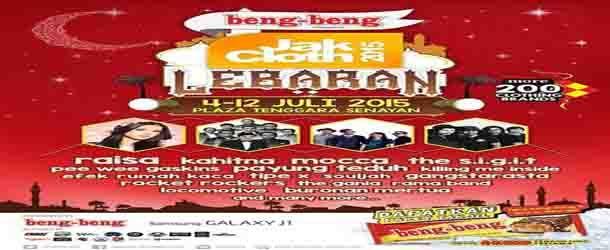 Jadwal Konser Musik JakCloth 2015 Lebaran Di Plaza Tenggara Senayan Jakarta, event musik Blues, Indie, Jazz, Klasik, Pop/Pop Punk/J-Pop/Progresif, SKA/Reggae/Dub di Jakarta, Senayan