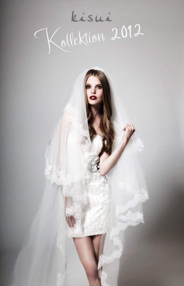Long Veil And Short Dress Simple Hair Lipstick I Really Love It