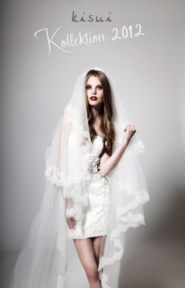 111 best images about short dress long veil on pinterest for Long veil wedding dresses