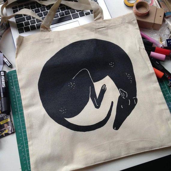 Mandy Dog greyhound tote bags