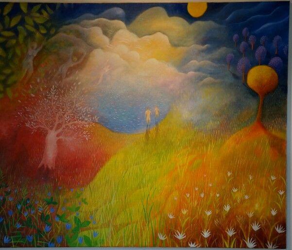 Art work by Stefan W Igelström oil on canvas