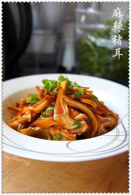 appetizer - Spicy Pig's Ear Salad. #Taiwan  麻辣豬耳