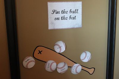Creatively Purposed: Baseball Birthday Party - Pin the ball on the bat game
