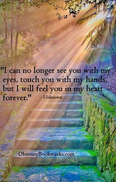 I can no longer see you with my eyes...