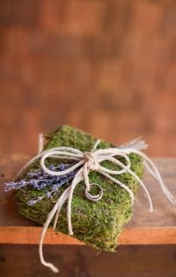 ring bearer pillow moss