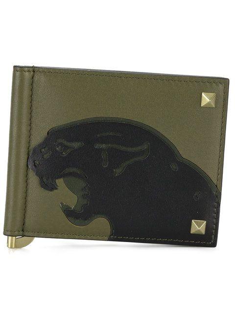Valentino Valentino Garavani Rockstud panther print wallet