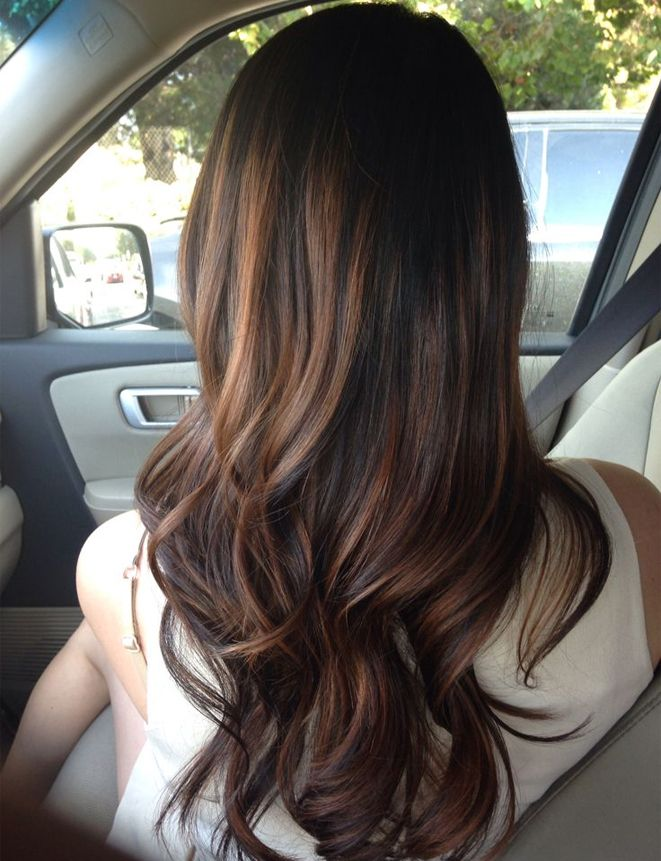 Long Natural Brown Blonde Waves Hairstyles 2017