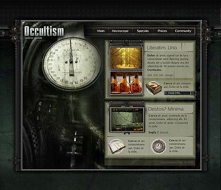 Science Occultism Flash Templates by Jaguar