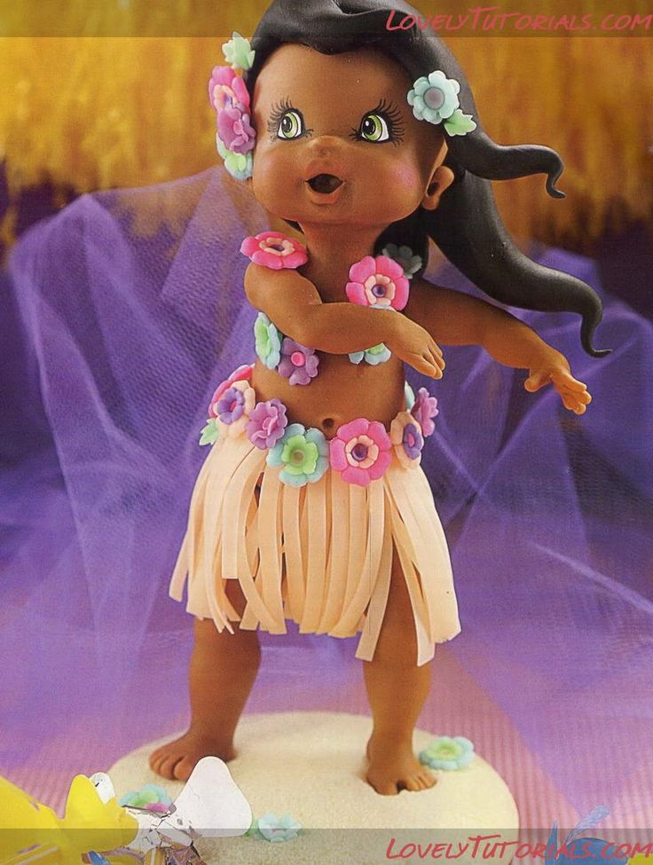 Hula Girl Topper by Lovely Tutorials
