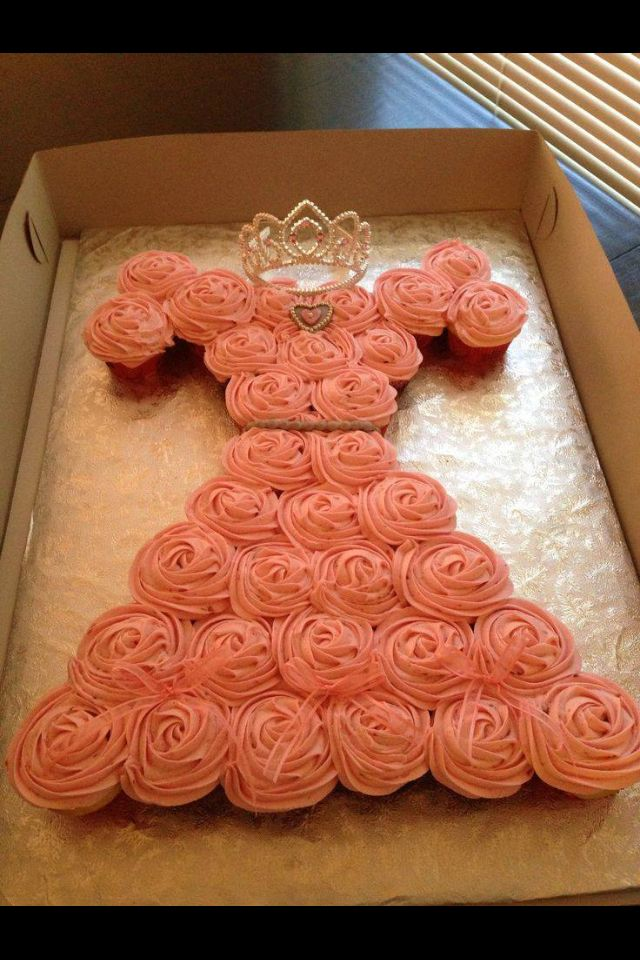 Instead of a smash cake, smash cupcake in a princess gown design!