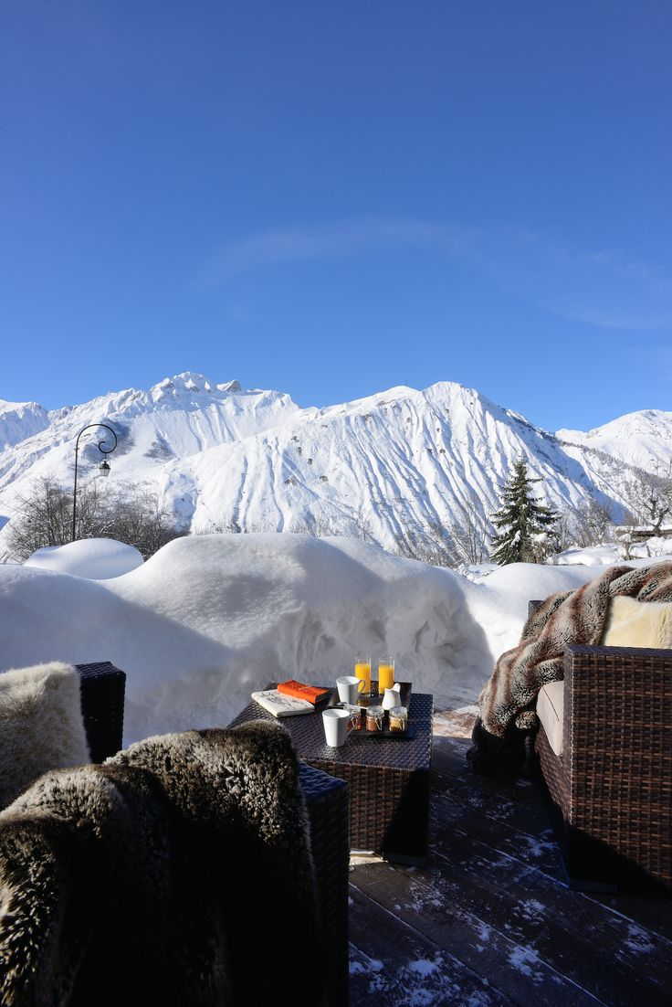 Chamois Lodge - Boutique Mountain Retreat - magical views from the terrace