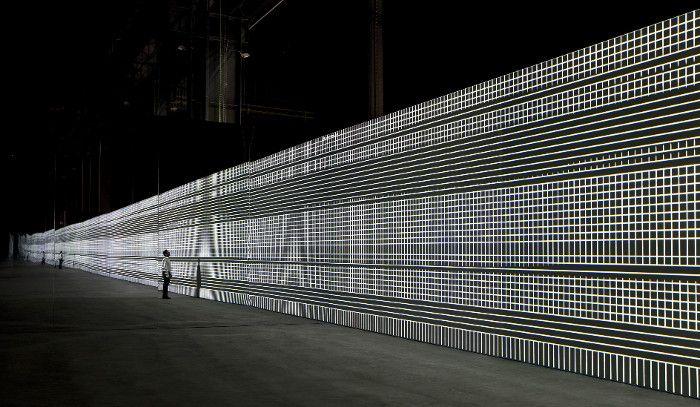 Alva Noto / Unidisplay #amazing #glitch #experimental #carstennicolai #alvanoto #installation #projection