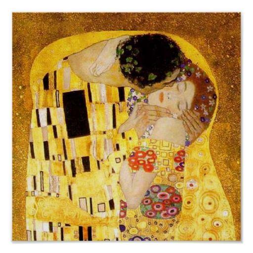 Gustavo Klimt o beijo Poster