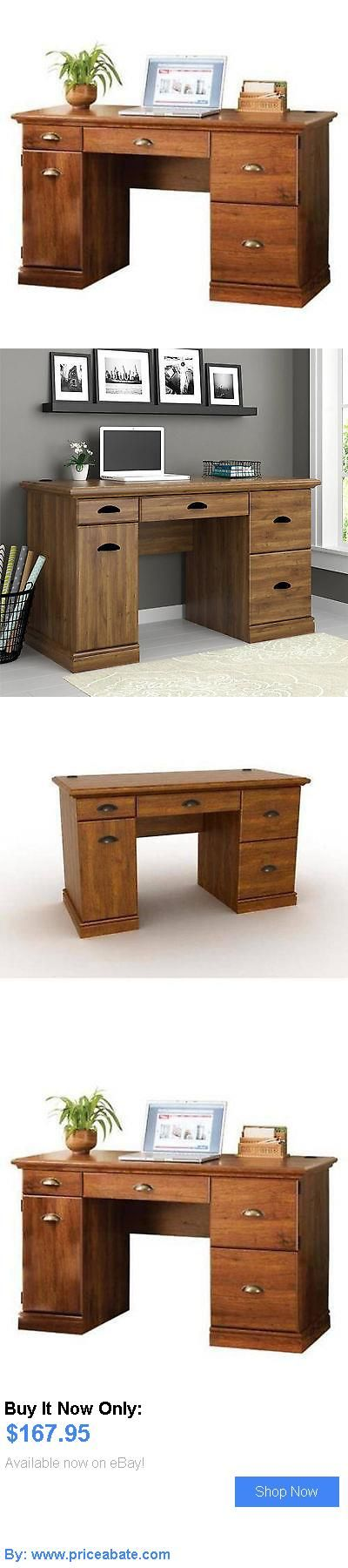 Office Furniture: Computer Desk For Home Writing Table Wood Workstation Office Furniture Oak New BUY IT NOW ONLY: $167.95 #priceabateOfficeFurniture OR #priceabate