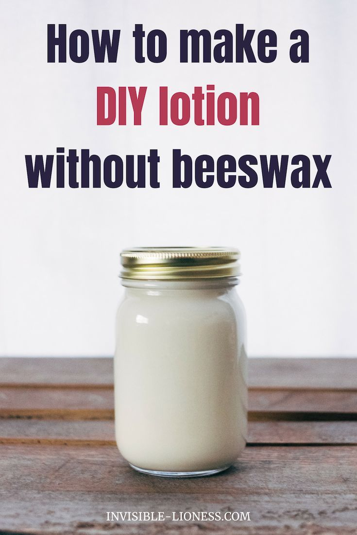 Looking for a nice lotion DIY recipe that does NOT contain beeswax? Then you might want to try this homemade lotion. You'll only need 4 ingredients.