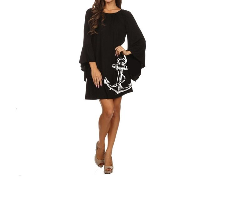 Plus Size anchor Dress Women's Clothing Black Dress ruffled Nautical dresses cute tunic screen printed sailor clothing pin up 2XL 3XL sizes by BrunoAndBetty on Etsy https://www.etsy.com/listing/253987626/plus-size-anchor-dress-womens-clothing